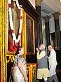 Narendra Modi paying homage to the former Prime Minister, Shri Morarji Desai, on his Birth Anniversary, in New Delhi on February 28, 2015. The Speaker, Lok Sabha, Smt. Sumitra Mahajan and other dignitaries are also seen.jpg