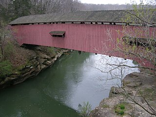Narrows Covered Bridge place in Indiana listed on National Register of Historic Places