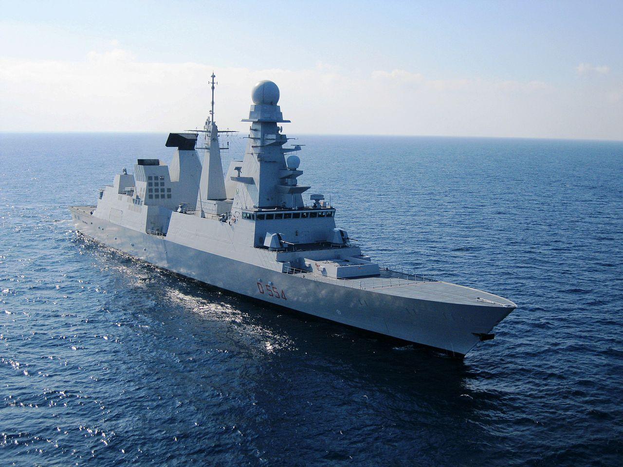 Italian warship Caio Duilio in 2011