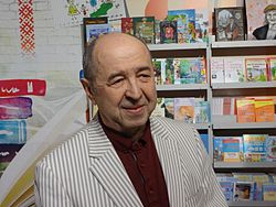 Navum Galpiarovich - on a book exhibition in Minsk city - 12 February 2017 AD.JPG
