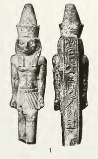 Necho I Ancient Egyptian ruler of the city of Sais, father of Psammetich I