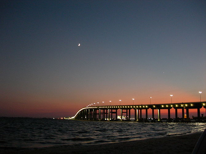 New Ocean Springs Bridge - from Ocean Springs Mississippi to Biloxi
