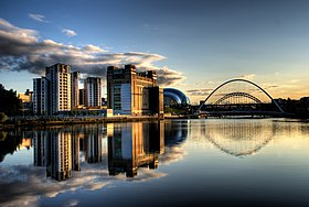 Newcastle Quayside with bridges.jpg