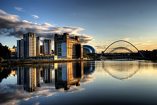 Gateshead town in Tyne and Wear, England