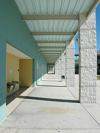 Joe E. Newsome High School - Hallway at Joe E. Newsome High School in 2007