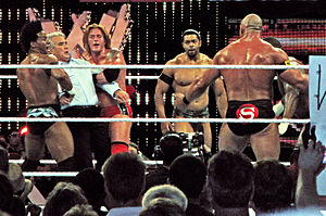 The Nexus (professional wrestling) - The Nexus after exiling Daniel Bryan and attacking Hall of Famer Ricky Steamboat on the June 21, 2010 episode of Raw