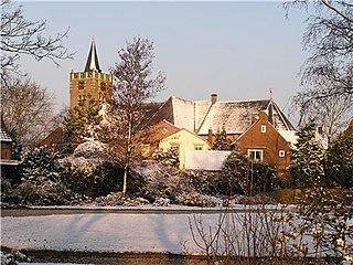 Nieuwe-Tonge Village in South Holland, Netherlands