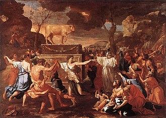 The Adoration of the Golden Calf - Image: Nicolas Poussin The Adoration of the Golden Calf WGA18293