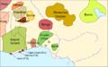 Nigèria - Situacion politica vèrs la fin dau sègle XVIII.png