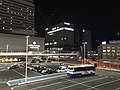 Night view in front of north entrance of Hiroshima Station 2.jpg