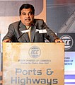 Nitin Gadkari addressing at a special session on 'Ports and Highways Conclave – 2014', organised by the Indian Chamber of Commerce, in Kolkata on December 23, 2014 (1).jpg