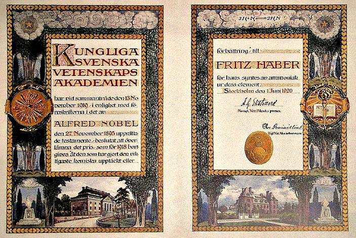 File:Nobel Prize Diploma Fritz Haber 1918.JPG