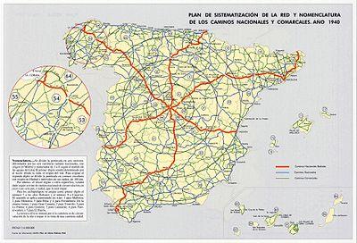 Anexo Carreteras Nacionales De Espana Wikipedia La Enciclopedia