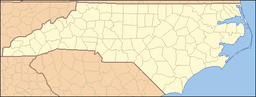 Location of Morrow Mountain State Park in North Carolina