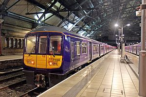 Liverpool–Manchester lines - A class 319 electric train at Liverpool Lime Street station