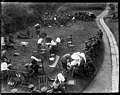 Nurses of the New Zealand Stationary Hospital give a garden party in the grounds (21066997474).jpg