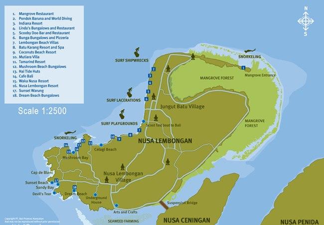 Nusa Lembongan Map Wikitravel