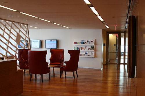 New York Academy of Sciences office (lobby) on the 40th floor Nyas lobby wtc7.jpg