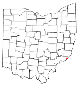 Location of Matamoras, Ohio
