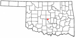 Location of Moore, Oklahoma