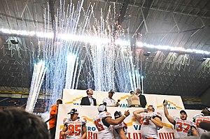 2010 Alamo Bowl (December) - Image: OKST Alamo Bowl trophy