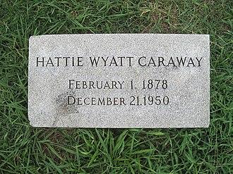 Hattie Wyatt Caraway - Grave of Hattie Caraway