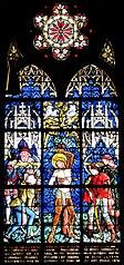 le Martyre de saint Sébastien, calvaire, sainte Marguerite, sainte Catherine d'Alexandrie, sainte Barbe, sainte Cécile, sainte Agathe, sainte Dorothée à Obernai
