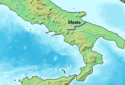 Map of the Ofanto river