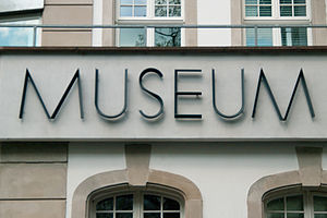 "Klingspor Museum - ""Museum"" sign at the Klingspor Museum for typography"