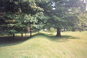 Licking County, Ohio - View from a section of the Great Circle Earthworks, part of the Newark Earthworks.