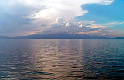 clouds above Lake Ohrid