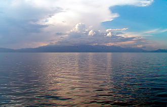 Geography of North Macedonia - View of Ohrid Lake