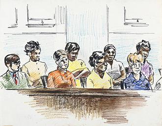 Deliberation - A jury.