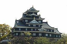 Pohled na okajamský hrad ze severní strany