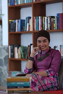 Okky Madasari at her house in Jakarta, July 2015.jpg