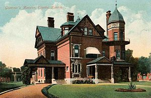 Topeka, Kansas - Old Governor's Mansion (1887), replaced by ''Cedar Crest'' in 1963 and demolished the following year