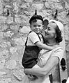 Olivia de Havilland with son Benjamin c. 1952.jpg