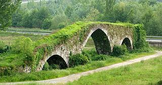 Architectures: pont médiéval d'Olloniego.