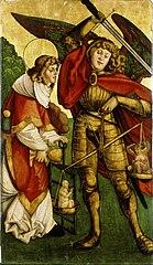 De aartsengel Michael en de Heilige Laurentius