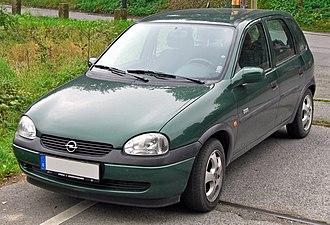 Opel India - Image: Opel Corsa B 1.2 16V Edition 2000 5 Türer Facelift front