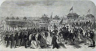 West Pier - The opening of West Pier in 1866 from the Illustrated London News.