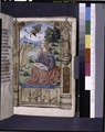 Opening of main text, miniature of John the Evangelist. Other figures in border design (NYPL b12455533-425977).tif