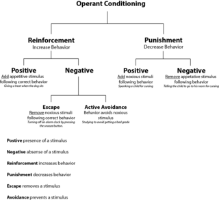 Operant conditioning learning to anticipate future events on the basis of past experience with the consequences of ones own behavior; behaviors are modified by the effect they produce (i.e., reward or punishment)