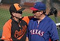 Orioles and Rangers coach (14544325071).jpg