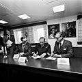 Ove Ljung, Gunnar Grandin, Hans Frisk ombord HMS Carlskrona år 1982 V 87451.jpg