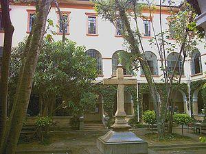Pontifical Catholic University of São Paulo - Cross Patio inside PUC-SP in campus Perdizes.