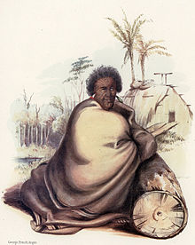 Pōtatau Te Wherowhero, before 1847, wrapped in a blanket