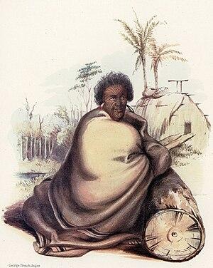 Pōtatau Te Wherowhero - by George French Angas