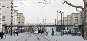 Porte de Vincennes - Tram stop at Porte de Vincennes