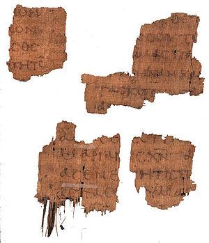 Romans 16 - Image: P118 Rom 16 1 16 4 7 16 11 12 III